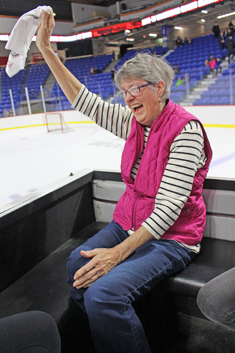For as long as she can remember, Liz Thunstrom has wanted to ride a Zamboni. On Friday, her dream came true, courtesy of the Vancouver Giants and the Langley Events Centre. Photo courtesy Paisley Hopkins