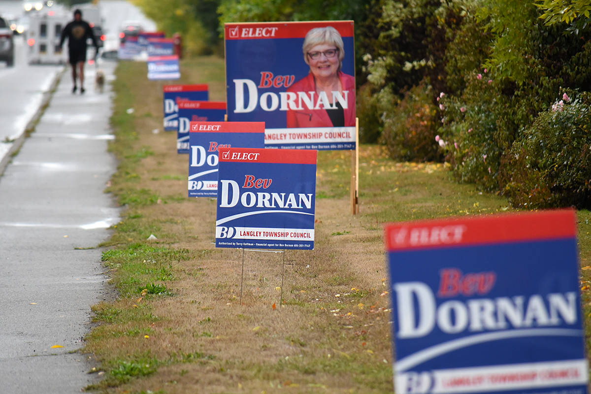 Why election signs go up earlier in the Township of Langley