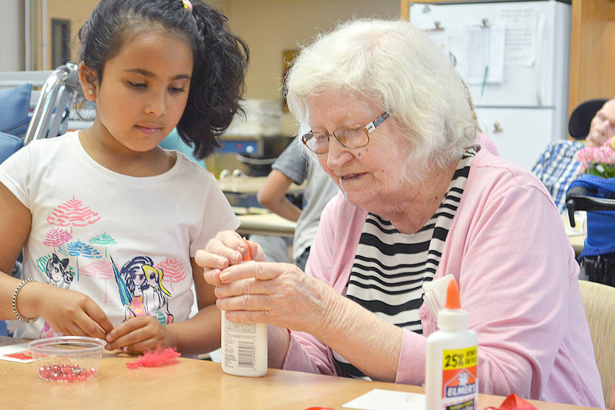 Youth interacting with seniors is viewed as one way to engage seniors in social activities to relieve any sense of living a lonely existence in a residential care facility. Photo: Capital News files