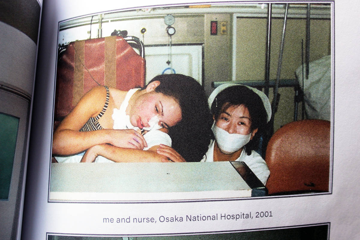 Life took quite a turn for Heather Williams in the Osaka hospital in 2001. (Photo from Little Feet by Don Bodger)