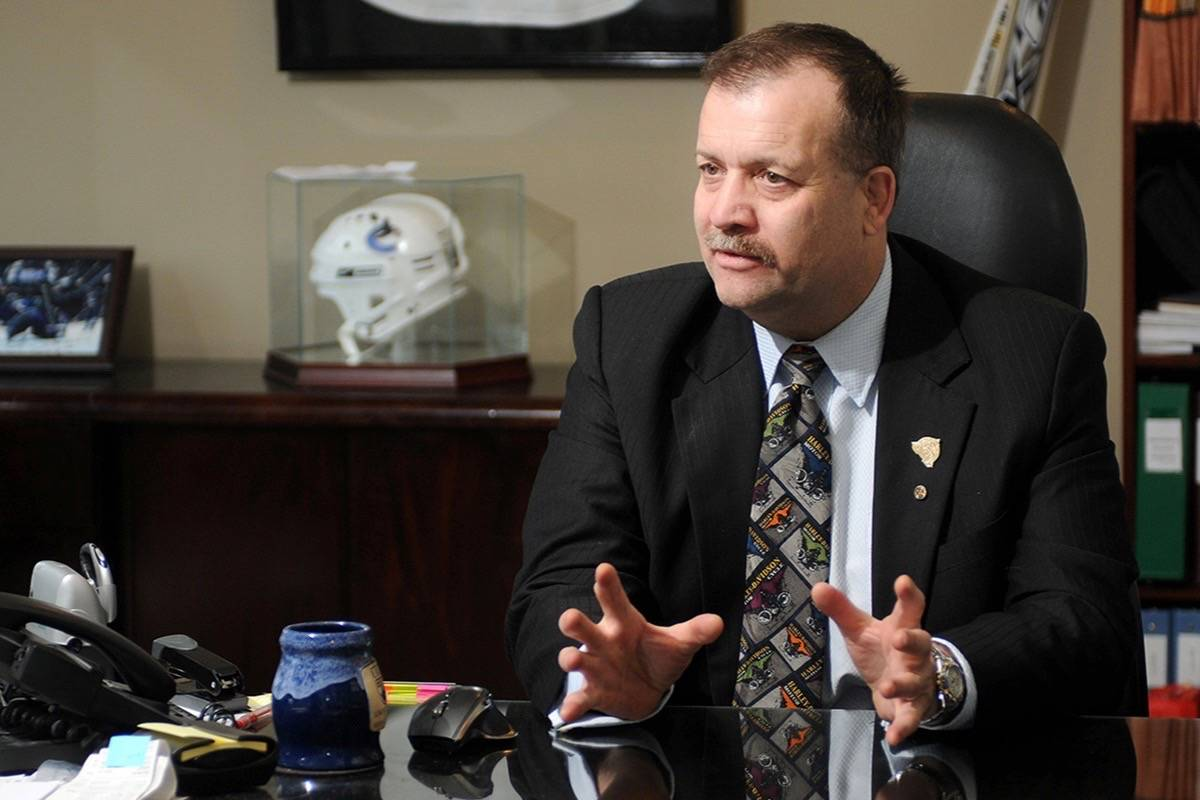 Pitt Meadows Mayor John Becker at his law office. (News files)