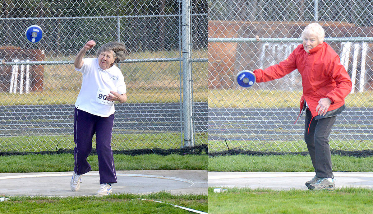 Athletes compete in the discus at the 2018 55+ BC Games in Cranbrook this past summer. The 2022 edition of the event is coming to Abbotsford. (Barry Coulter/Black Press)