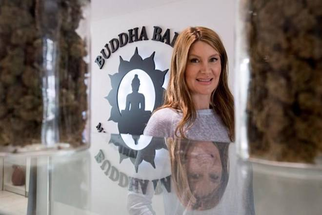 Jessika Villano, owner of Buddha Barn Craft Cannabis is seen in her Vancouver store, Tuesday, Oct. 2, 2018. THE CANADIAN PRESS/Jonathan Hayward