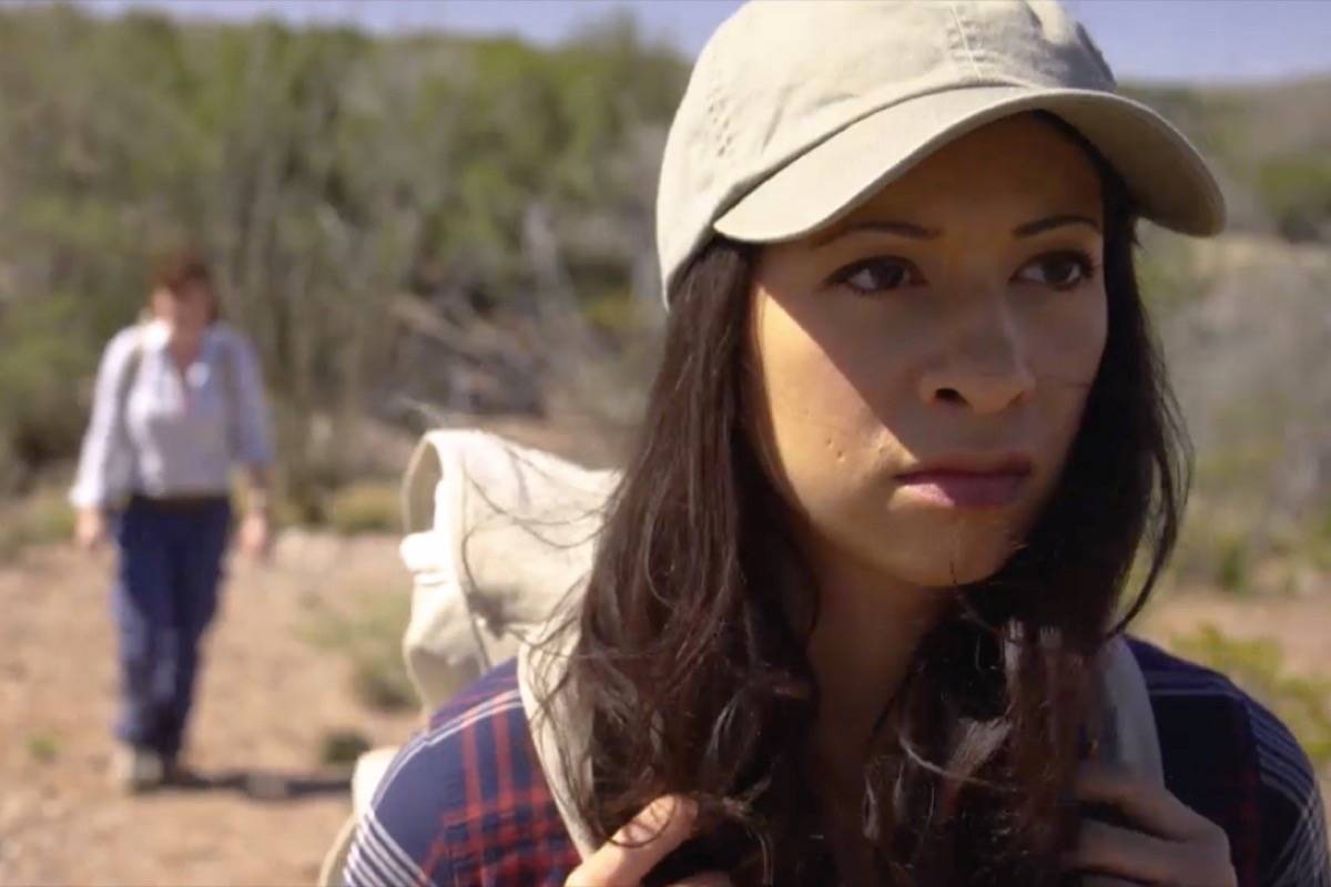 Helenna Santos stars in and producers her latest indie thriller filmed in the New Mexico desert. Courtesy At Your Own Risk