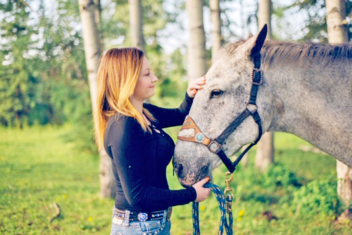 Kayla Bendickson and her horse, Curly, share a special bond. Curly, who was Bendickson's high school rodeo horse, went blind in 2016, however, Kayla and her mom, Twyla Bendickson, have remarkably barrel raced the horse following its affliction. Bella Johnson photo
