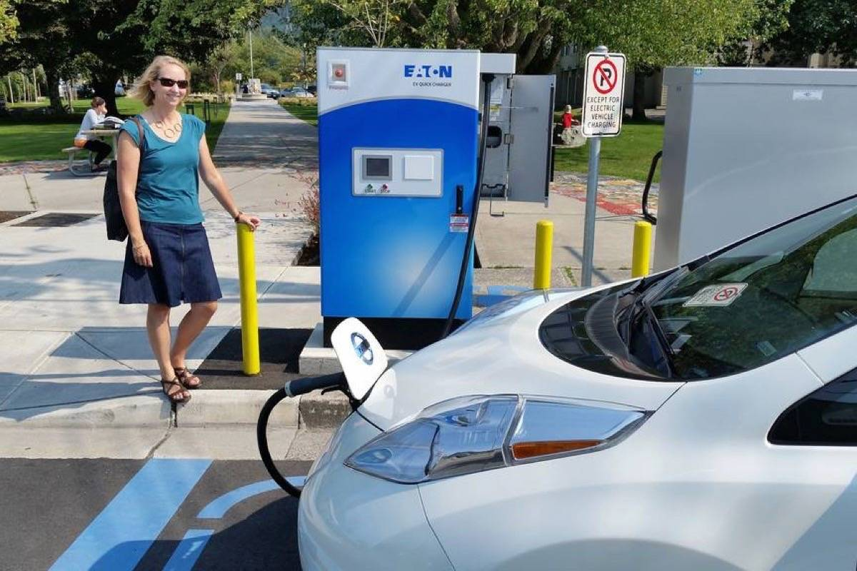 A direct-current fast charging station for electric vehicles at Squamish. (Black Press files)