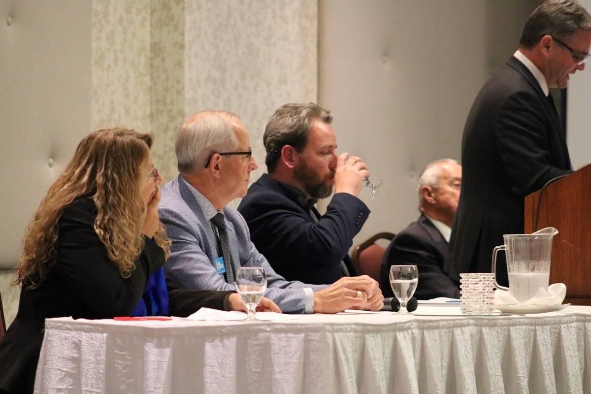Township mayoral candidates (left) Anna Remenik, Jack Froese, Alexander Joehl. Miranda Fatur Langley Times