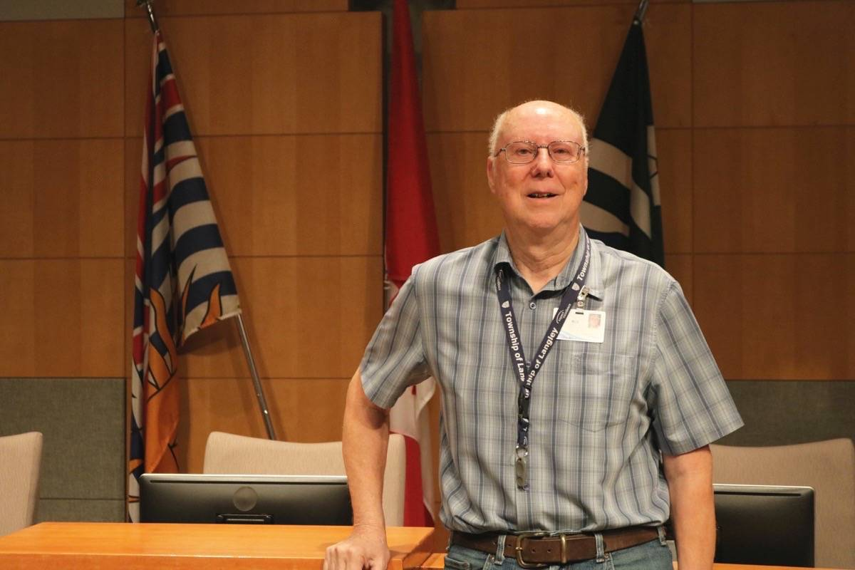 Bob Wilson, Township Chief Elections Officer, said the voting machines make for quick results. Miranda Fatur Langley Times