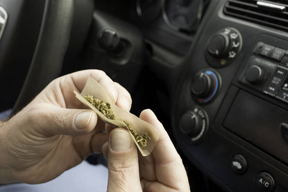 The passenger of a vehicle caught smoking weed was issued a $230 fine. (iStock photo)