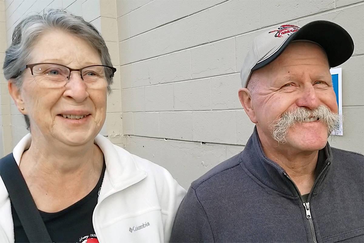 Pat and Rai Tuchscherer were among the earliest to vote. Dan Ferguson Langley Times