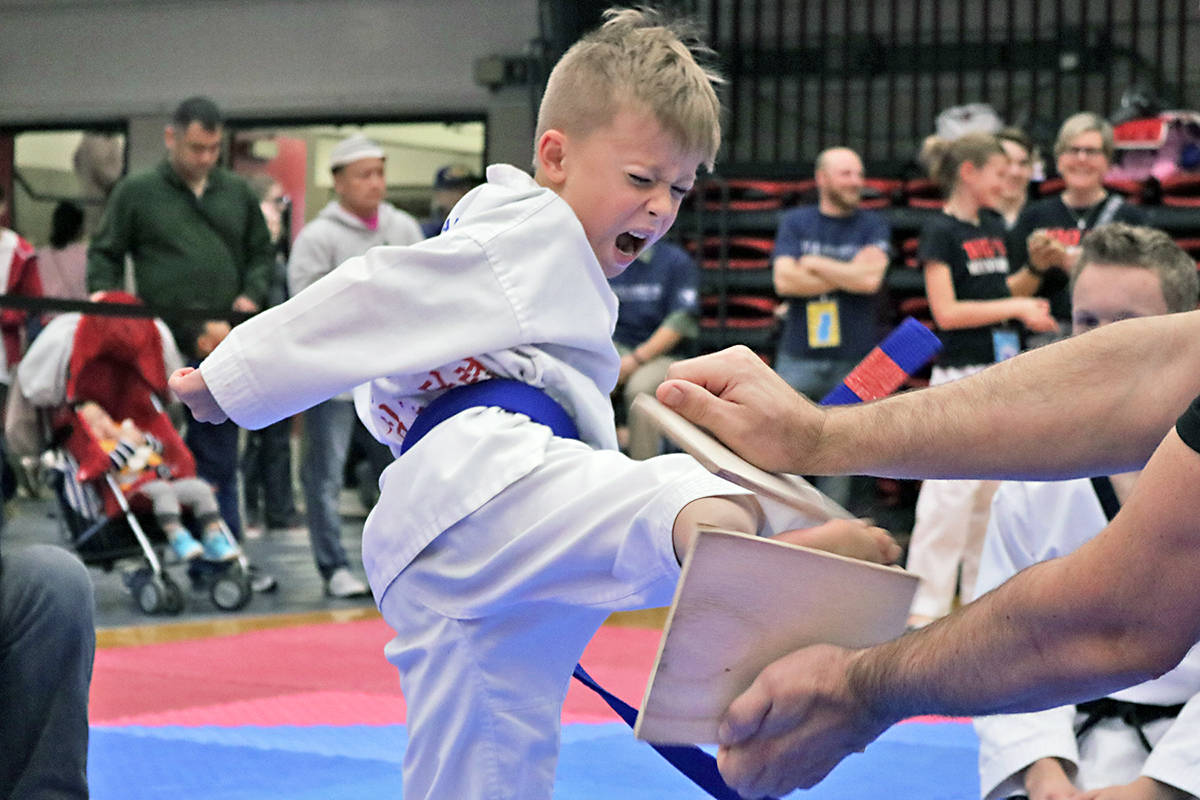 Woo Kim Langley Tae Kwon Do competitor Carson Pope took bronze at the 2018 Washington State Governors Cup. The Langley came home with buckets of medals. Supplied photo