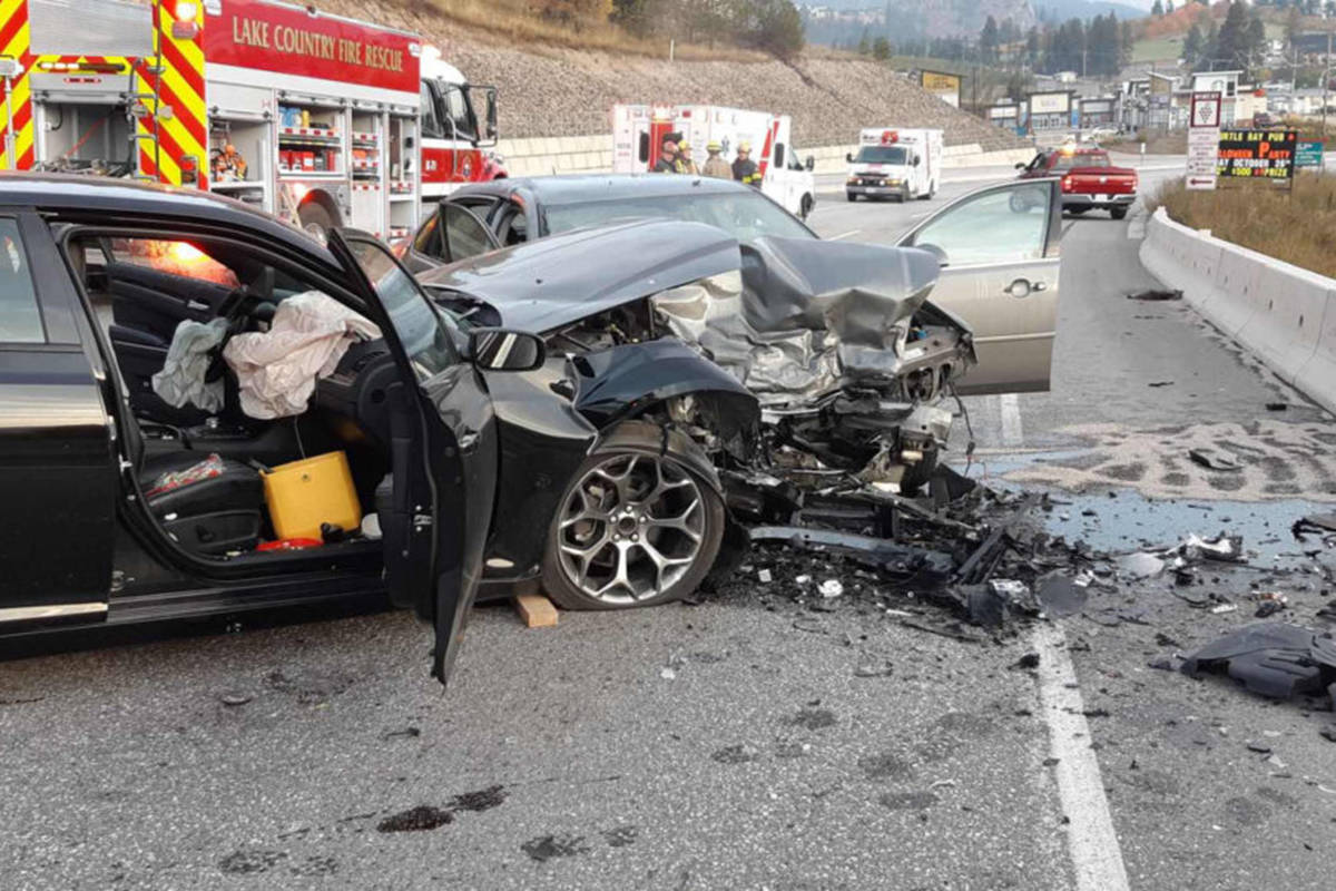 A head on collision near Lake Country claimed the life of an Upper Fraser Valley man. (Photo submitted)