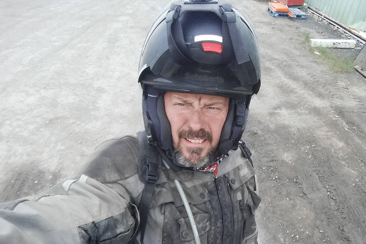 Chris Pelech had his motorcycle helmet stolen while visiting Maple Ridge, and was pepper sprayed after chasing the thieves. (Contributed)