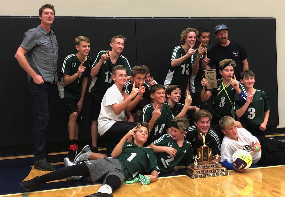 Langley Christian sweeps Grade 8 district volleyball finals