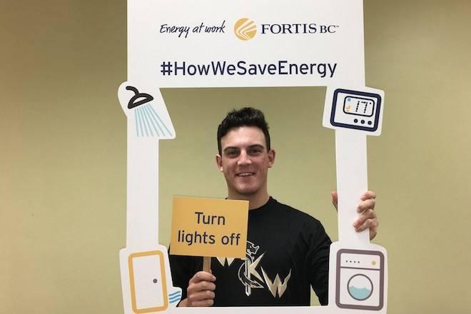 Twitter: West Kelowna Warrior's Captain Cavin Tilsley saves energy
