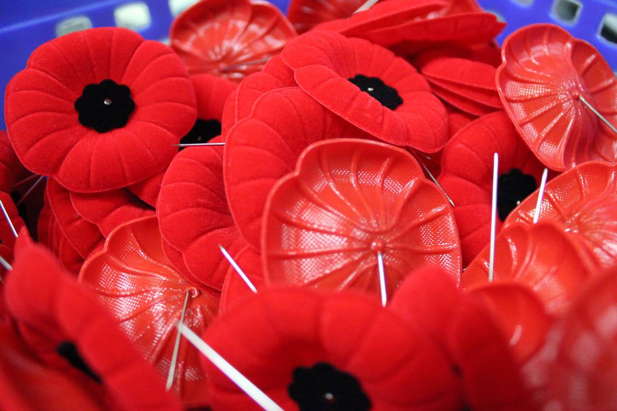 According to the Nanaimo RCMP, poppy donation boxes were stolen from multiple businesses located in the Woodgrove Centre area this week. NEWS BULLETIN photo