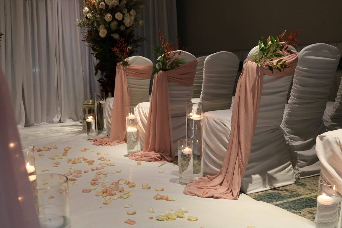 One room at the Convention Centre was set up in a wedding theme. Miranda Fatur Langley Times