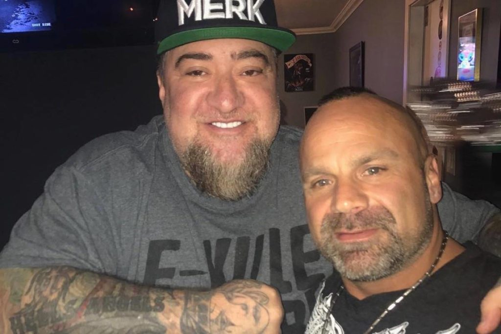 Chad Wilson, right, was a full-patch Hells Angels member found dead in Maple Ridge Sunday. (Facebook)