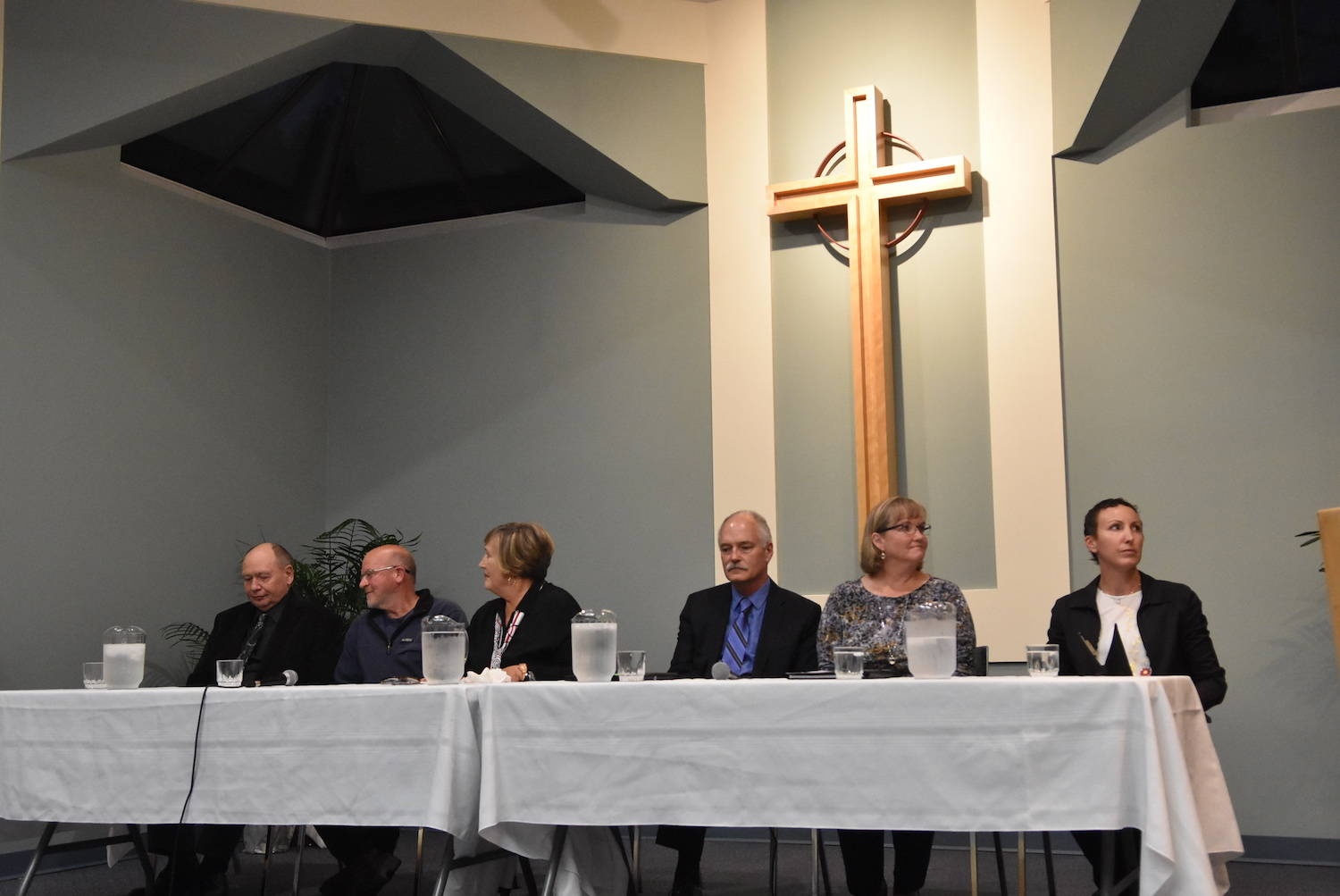 North Saanich council, with newcomers Brett Smyth and Joscelyn Barnard, introduced themselves to their community after being elected Oct. 20. (Peninsula News Review file photo)