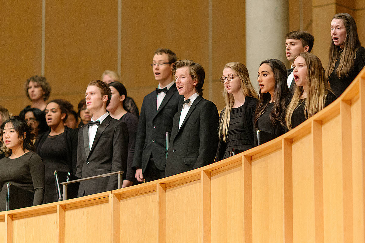 For years, the TWU choirs have been performing a Christmas show at the Chan Centre for Performing Arts in Vancouver. (Wendy Delamont Lees)