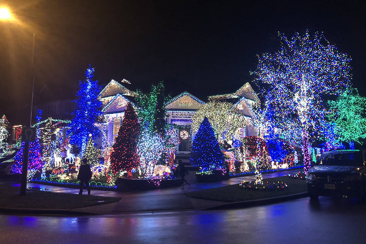 Christmas Light Displays.Map Christmas Light Displays In Surrey Langley And Beyond