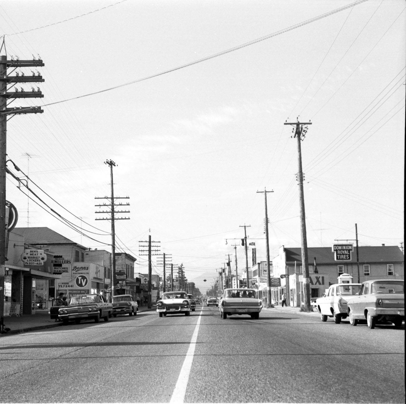 Cloverdale's 176 Street in 1963. (Courtesy of the Surrey Archives/SA1992.036.253)