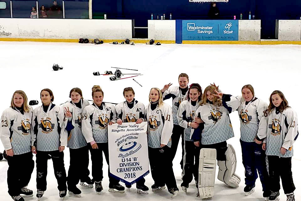 Vernon Voltage skated away with gold at the Spirit of Winter Ringette Tournament in Langley over the weekend. (Shannon Nelson photo)