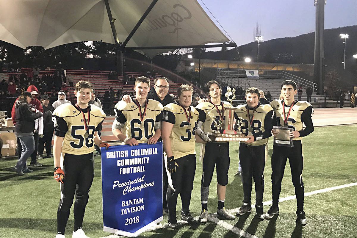 The North Langley Bears defeated North Surrey 7-6 in their provincial Bantam championship.