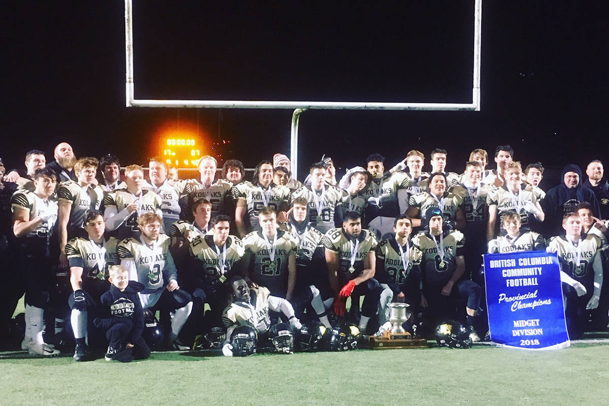 Kodiaks won BCCFA Provincial Championships for the second year in a row