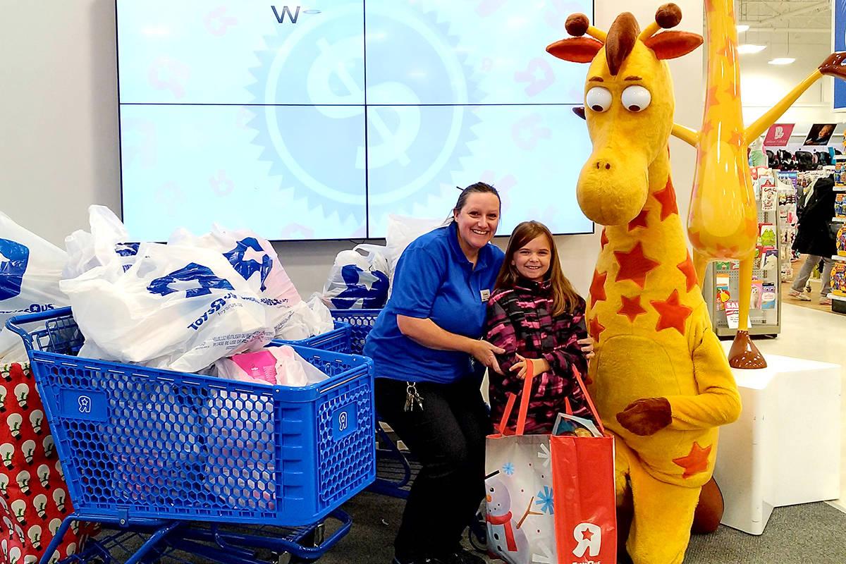 Aubrielle Bibeau is donating 337 toys to BC Children's Hospital. Courtesy Lizsa Bibeau