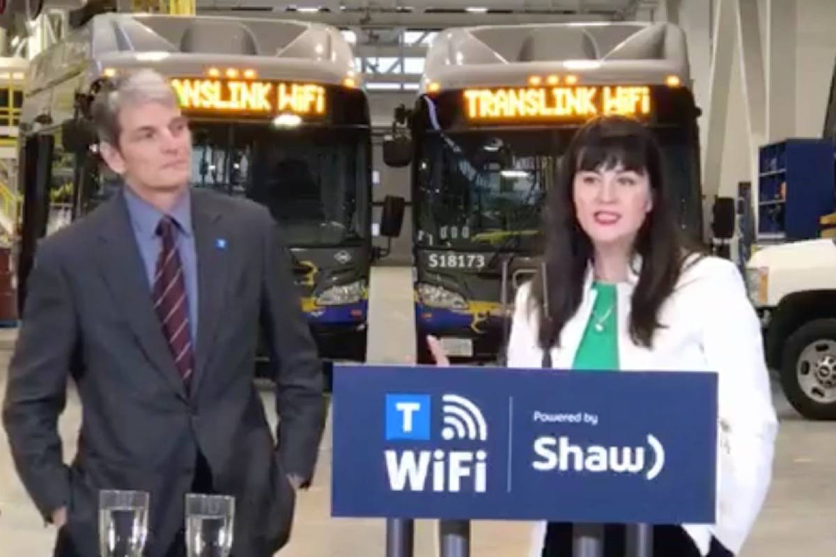 TransLink will bring free WiFi to buses, SkyTrain and Seabus by 2020