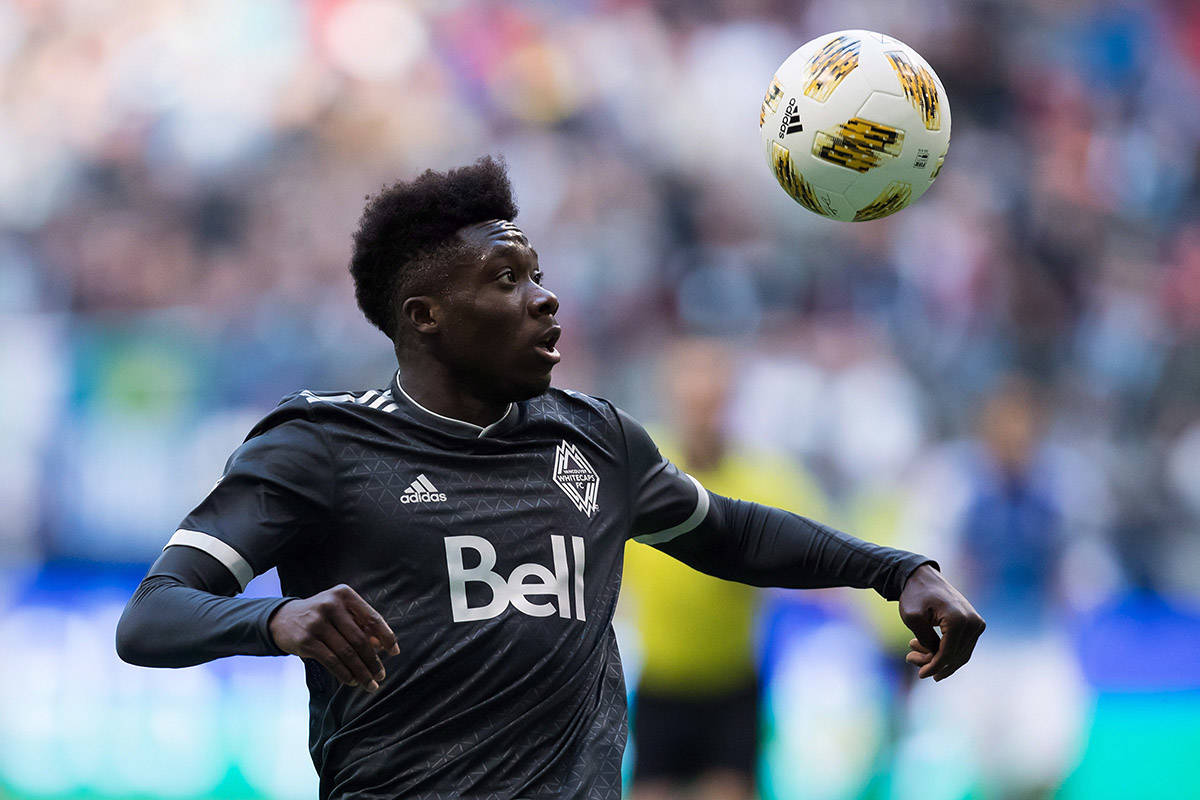 Former Vancouver Whitecap midfielder, Alphonso Davies wins Canadian Men's Soccer Player of the Year. File/THE CANADIAN PRESS/Darryl Dyck
