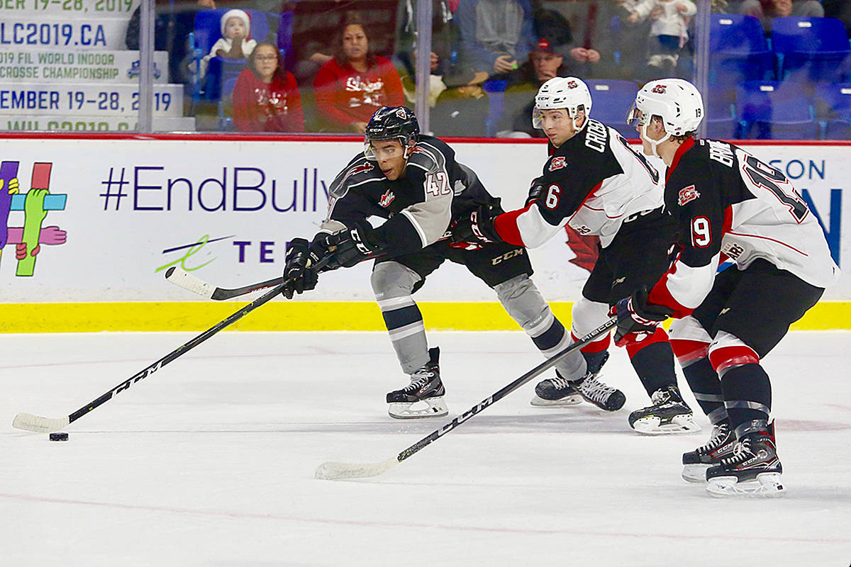 Giants won a game against the visiting Prince George Cougars, 2-1, on home ice at the Langley Events Centre Sunday afternoon. (Rik Fedyck/Vancouver Giants)