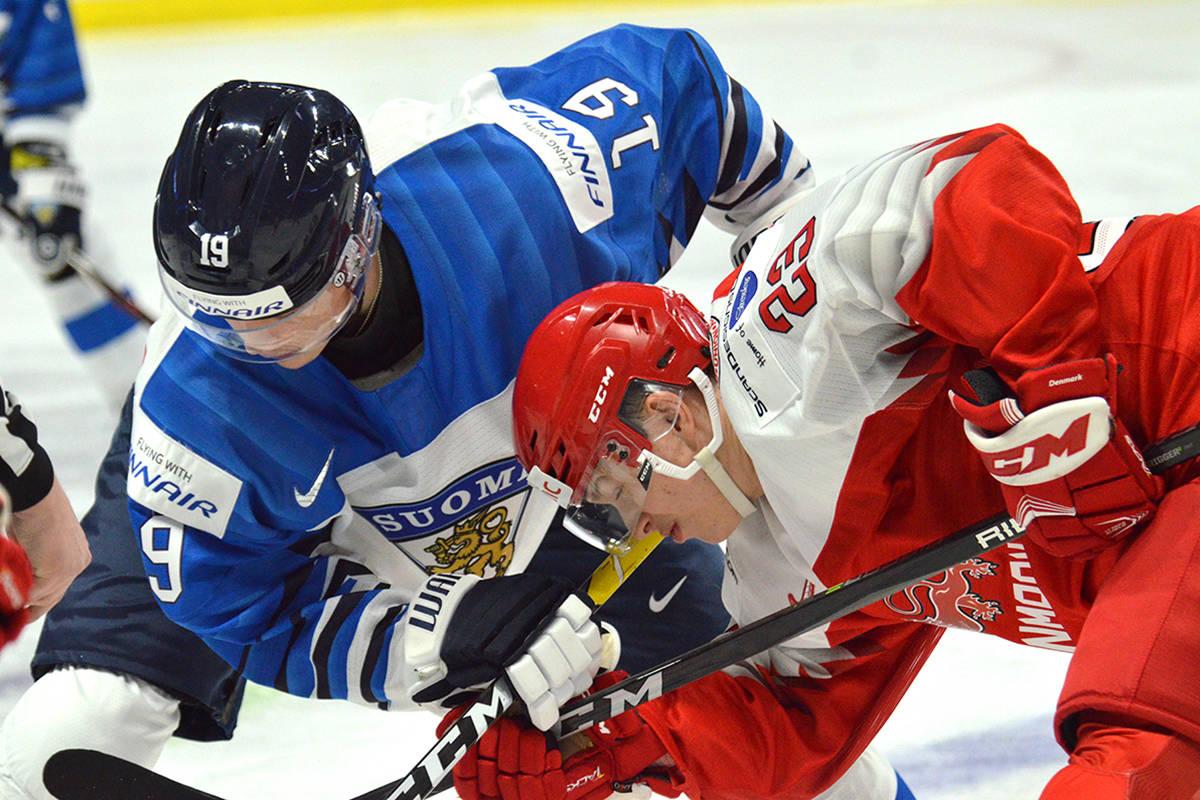 Finland vs Denmark World Junior Exhiibition hockey at Langley Events Centre, Dec. 19, 2018. Gary Ahuja Langley Events Centre photo