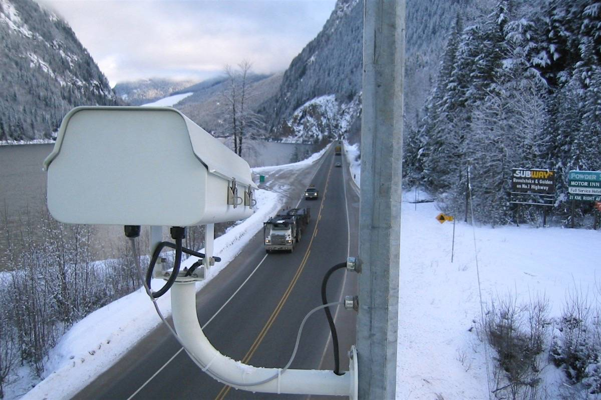 Webcams operate around the clock at 400 locations on B.C. highways. (Ministry of Transportation)