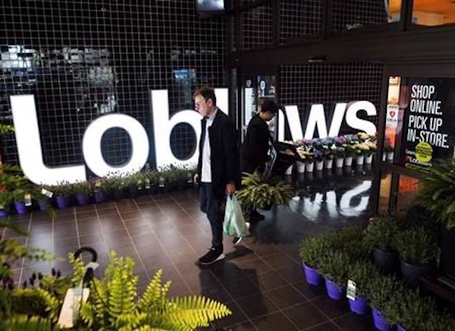 A man leaves a Loblaws store in Toronto on Thursday, May 3, 2018.THE CANADIAN PRESS/Nathan Denette