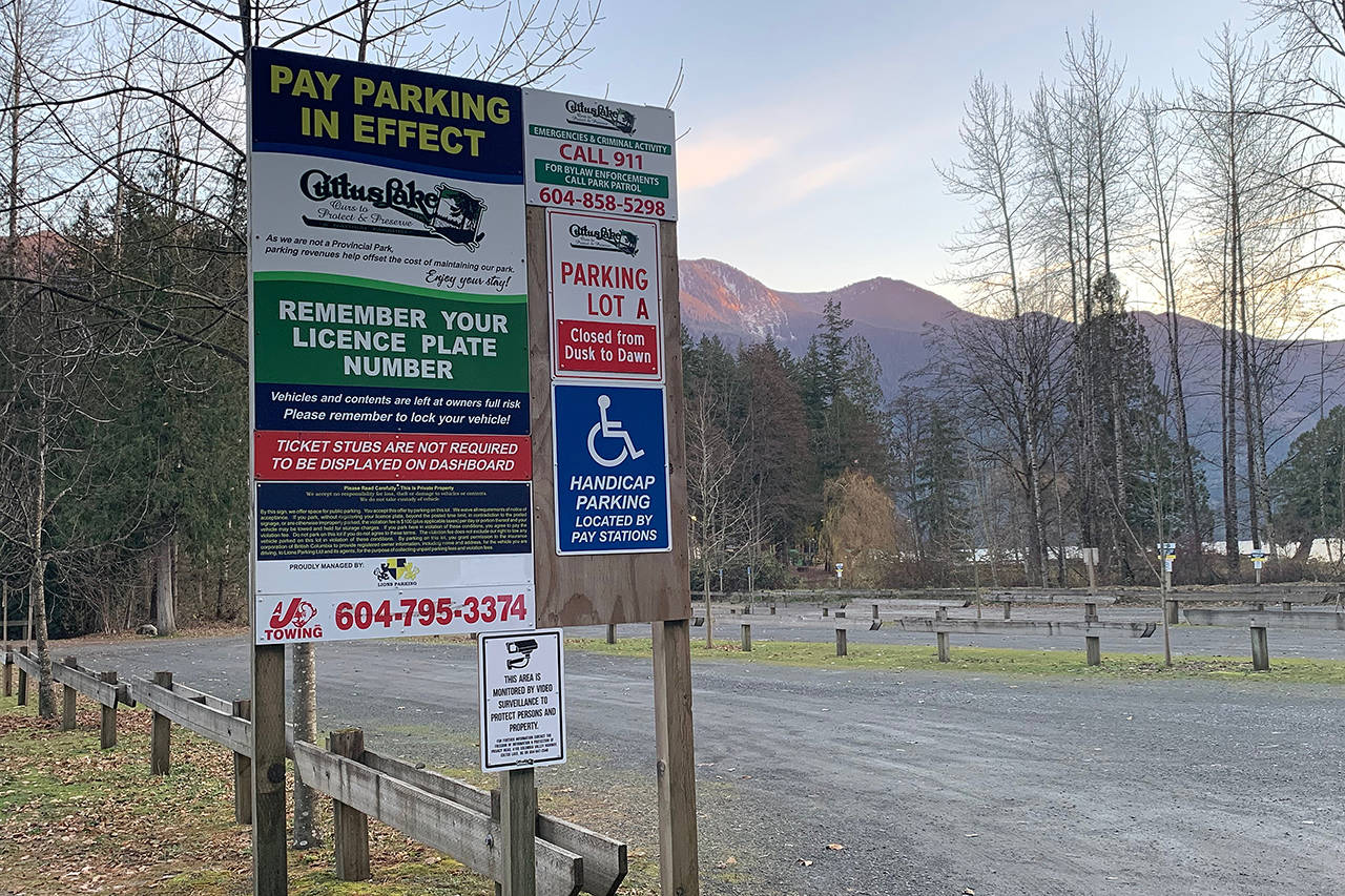 The Cultus Lake Park Board is considering raising the public parking rates at the two main lots to $5 an hour for 2019. That compares to $3.50 an hour at Stanley Park or Granville Island. (Paul Henderson/ The Progress)