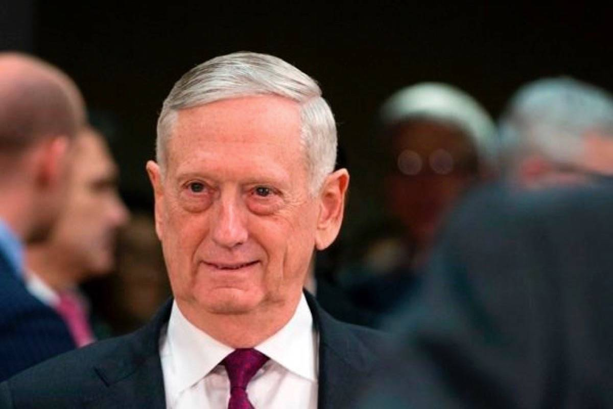 In this Wednesday, Feb. 14, 2018 file photo, U.S. Secretary for Defense Jim Mattis arrives for a meeting at NATO headquarters in Brussels. (AP Photo/Virginia Mayo, Pool)