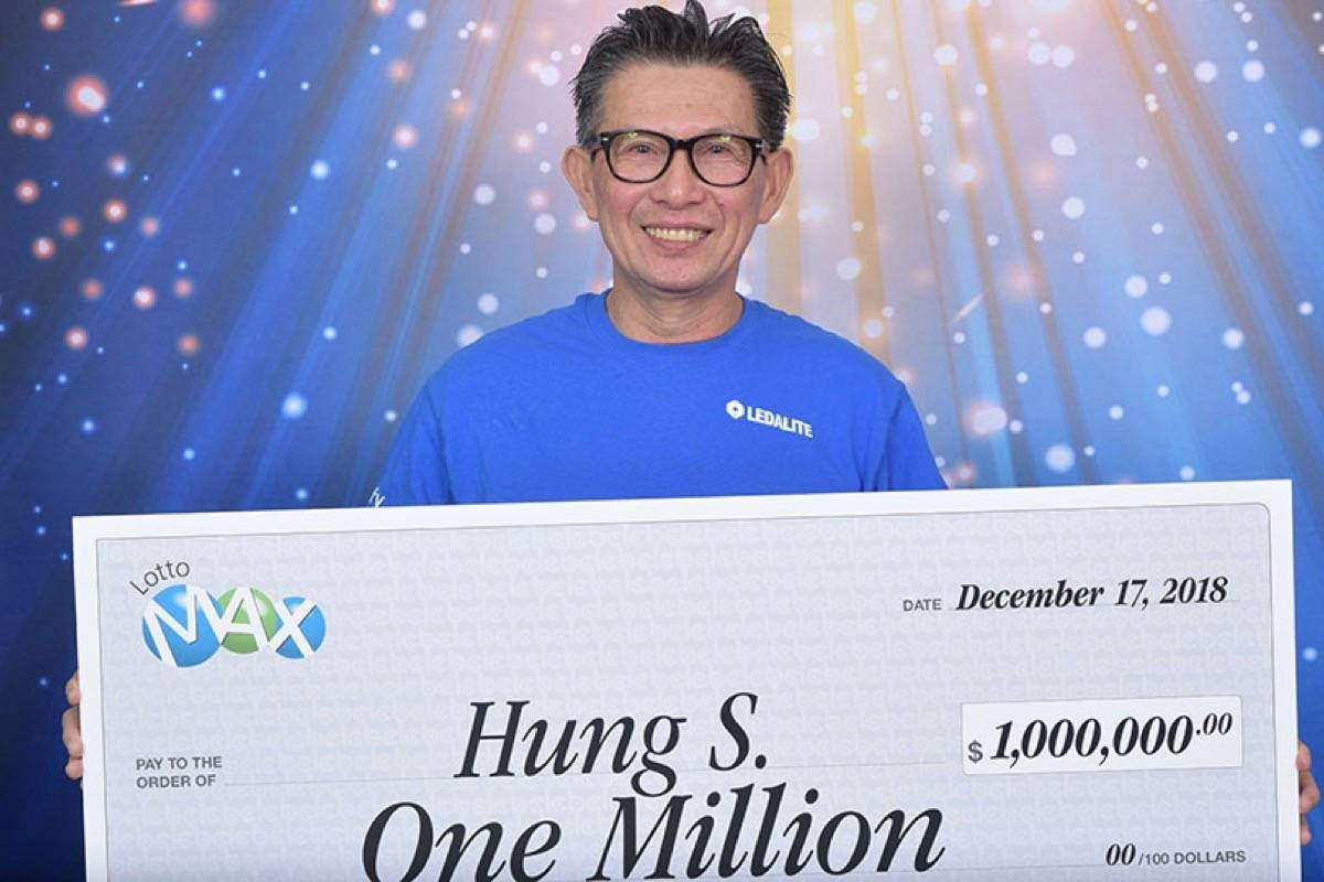 Hung Sengsouvanh won $1 million in the Lotto Max Maxmillion prize draw on Dec, 14. (Photo: BCLC)