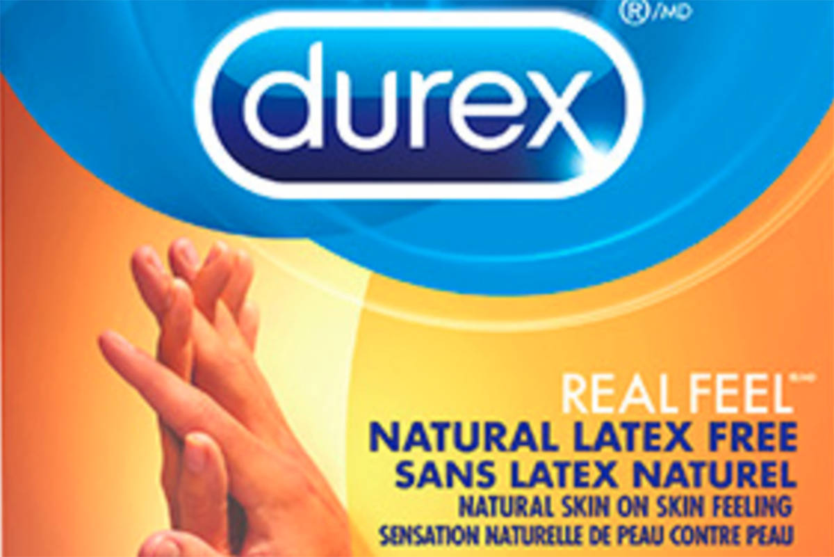 A specific batch (1000356816) of DUREX RealFeel 20 count condoms distributed in Canada is not expected to meet the registered burst pressure specification at end of shelf-life. (DurexCanada website)