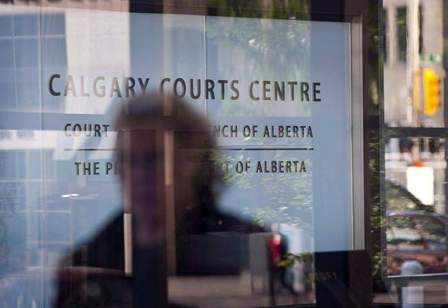 An entrance to the Calgary Courts Centre. (THE CANADIAN PRESS/Jeff McIntosh)