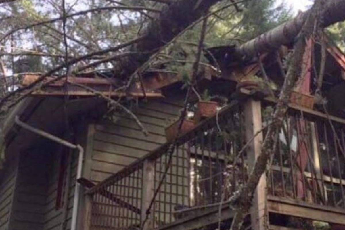 Damage to a home on Pender Island during the December 2018 storm. (Christine Tam)