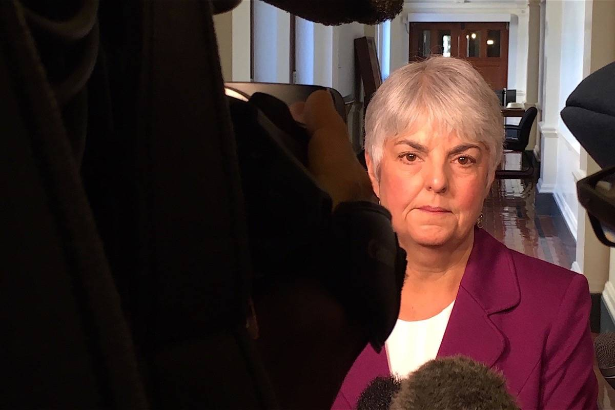 B.C. Finance Minister Carole James. (Tom Fletcher/Black Press)