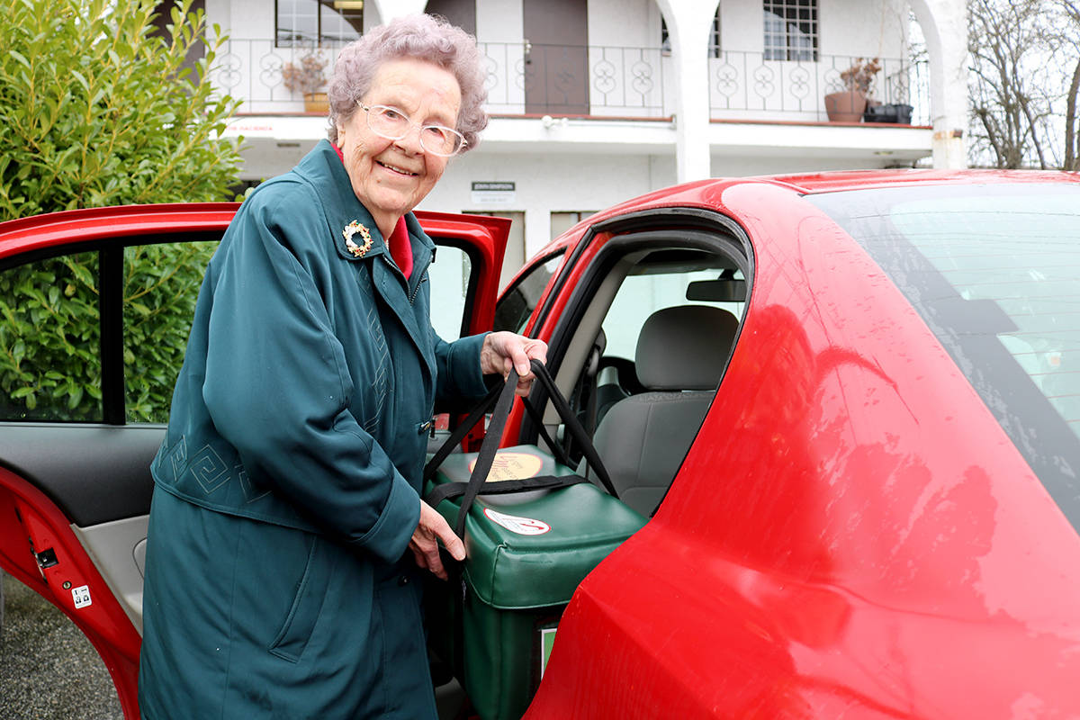 Peggy Schafer delivered Meals on Wheels once a week for 40 years. She has finally decided to retire. Miranda Fatur Langley Times