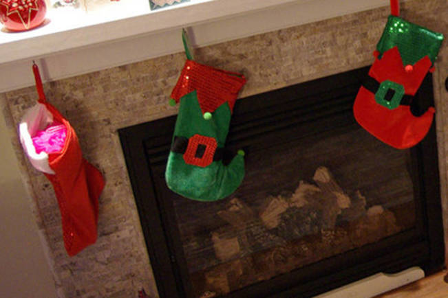 Stockings hung inside a house on Stonewater Drive where there was a break-and-enter on Christmas morning. NEWS BULLETIN file photo