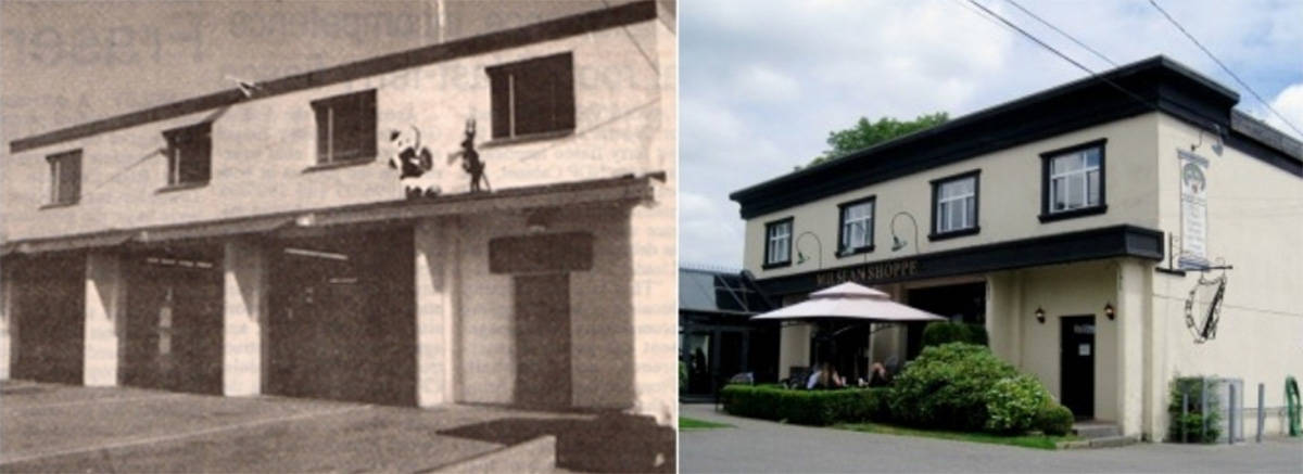 FILE PHOTO: The Aldergrove Fire Hall-Milsean building, then and now.