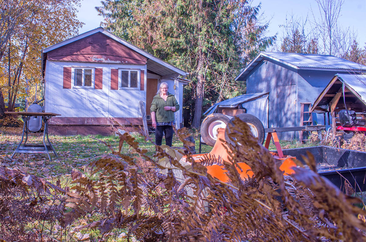 Myers' back garden. (Liam Harrap/Revelstoke Review)