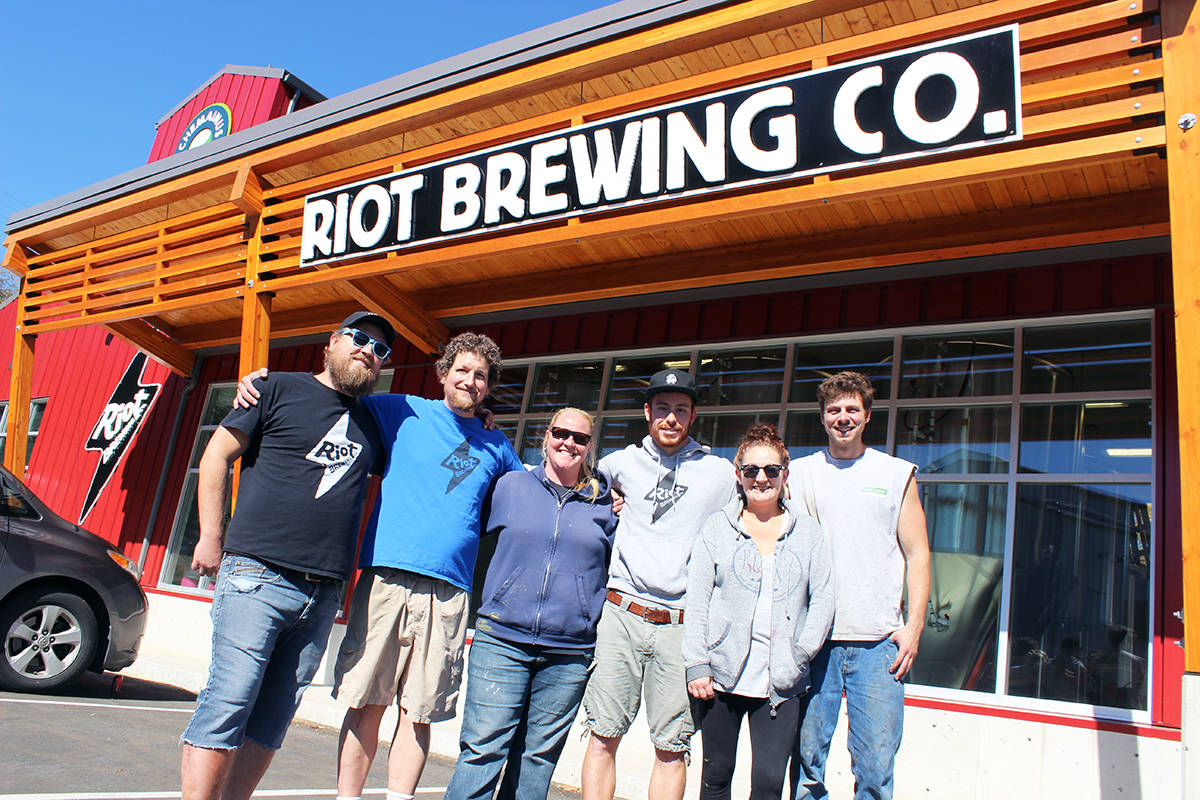 The power outage inspired the gang at Riot Brewing Co. in Chemainus to concoct a new sour outage beverage. (Photo by Don Bodger)