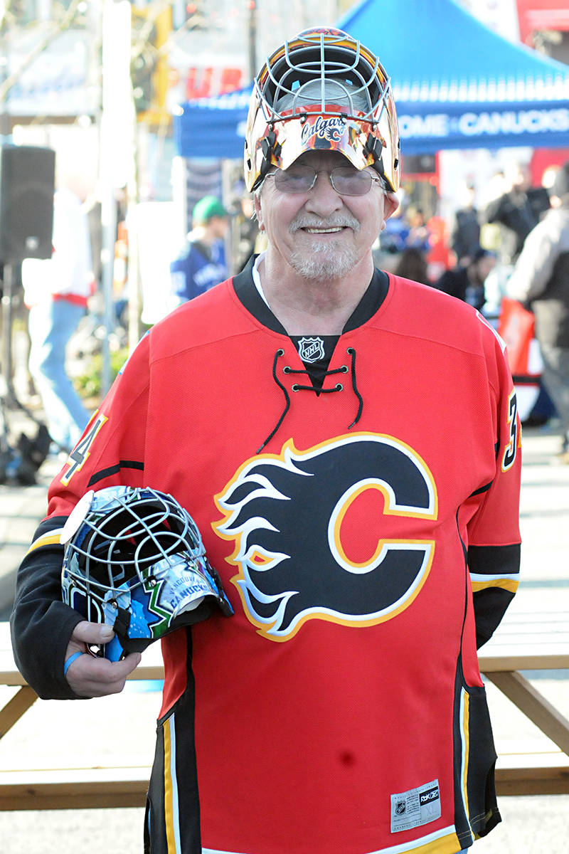 Ted Schroeder is a fan of both the Flames and Canucks. Black Press photo