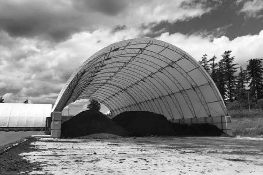 A June 2018 photo of one of two storage facilities holding manure at an Abbotsford property currently under the microscope of regulators for alleged non-compliance issues. B.C. Ministry of Environment photo